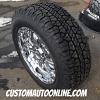 20x9 Moto Metal 959 Chrome wheel - 275/60r20 BFGoodrich Rugged Terrain tires