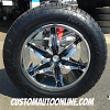 20x8.5 Helo He866 Chrome wheel with black inserts - 275/60r20 Nitto Terra Grappler tire