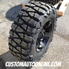18x9 KMC XD Series Rockstar II RS2 811 Black wheel with 35x12.50r18 Nitto Mud Grappler tires