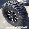 17x8 Moto Metal 970 Black wheels - LT285/70r17 Nitto Trail Grappler tires