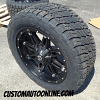 20x9 Fuel Offroad Hostage D531 Black Wheel - 305/50r20 Nitto Terra Grappler tire