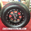 17x9 Fuel Offroad Revolver D525 Black wheel - 285/70r17 Nitto Terra Grappler tire