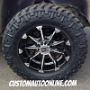 18x9 KMC XD Badlands 779 Black wheel - LT285/65r18 Nitto Trail Grappler tire