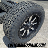 20x9 Fuel Maverick D537 Black and Machined wheel - LT275/65r20 Toyo Open Country AT2 tire