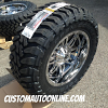 20x10 Fuel Hostage D529 PVD Chrome wheel - 35x12.50r20 Toyo Open Country MT tire