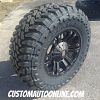 18x9 KMC XD Monster 778 Black wheel - 35x12.50r18 Toyo Open Country MT tire