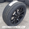 20x8.5 KMC Slide KM651 Black wheel - 265/50r20 Goodyear Fortera HL