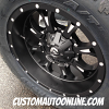 20x10 Fuel Krank D517 Black and Milled wheel - 35x12.50r20 Toyo Open Country AT2 tire