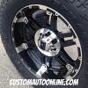 20x9 KMC XD Spy 797 Black wheel - LT295/60r20 Toyo Open Country AT2