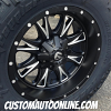 20x10 Fuel Throttle D513 Black and Milled wheel - 37x12.50r20 Nitto Trail Grappler