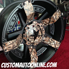 KMC XD Series Rockstar II RS2 811 Black wheel with Camo Ribs