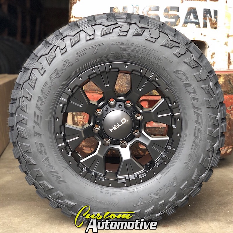 Car Helo HE878 Wheel with Satin Black Finish 17x9/8x170mm Wheels ...