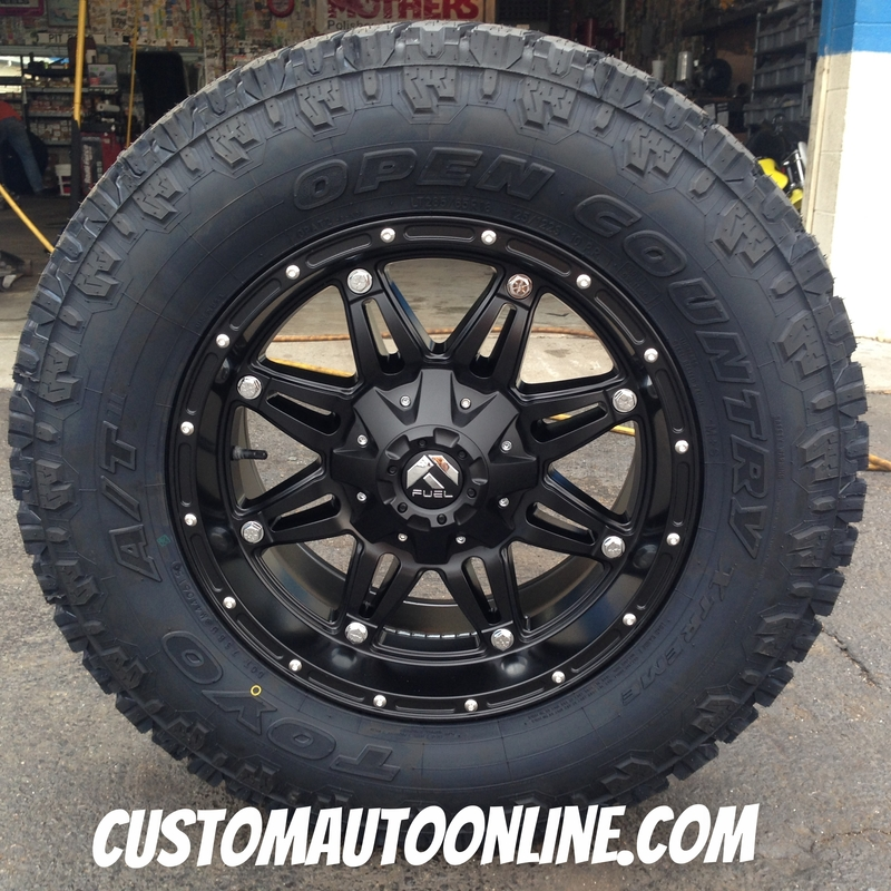 f37261ed60c 18x9 Fuel Hostage D531 Black wheel - LT285 65r18 Toyo Open Country AT2