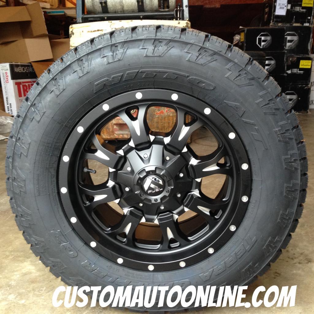 18x9 Fuel Krank D517 Black and Milled wheel - 285/60r18 Nitto Terra  Grappler G2