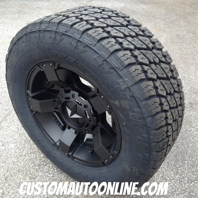 18x9 XD Rockstar 2 811 black wheel - 285/60r18 Nitto Terra Grappler G2 tires