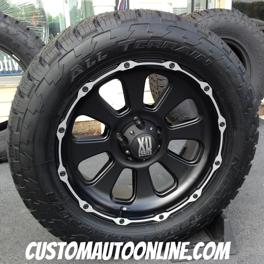20x9 XD Armour 799 Black with 305/50r20 Nitto Terra Grappler