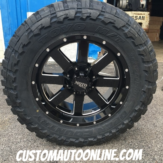 moto metal 962. 20x9 moto metal 962 black wheel - 35x12.50r20 toyo open country mt t