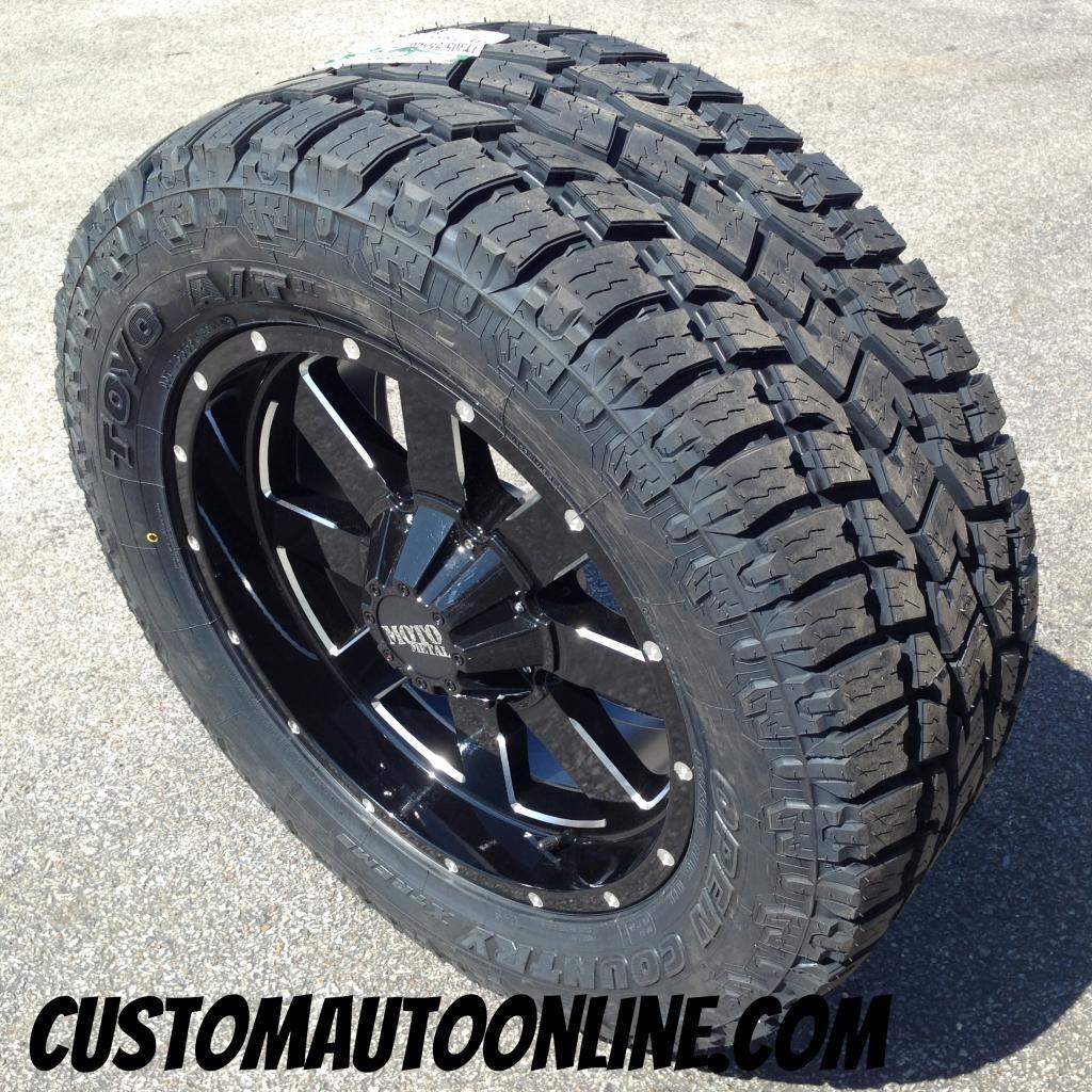 20x9 moto metal 962 black wheel lt305 55r20 toyo open country at2 tire