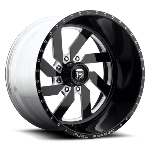 Fuel Forged FF03 Black and Milled wheel