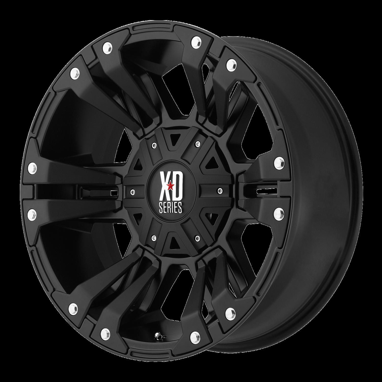 18x9 KMC XD Monster 2 822 Matte Black Wheel