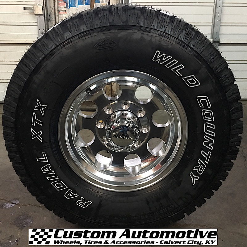 16x8 Ultra 164 Polished - LT285/75r16 Wild Country XTX Sport All Terrain