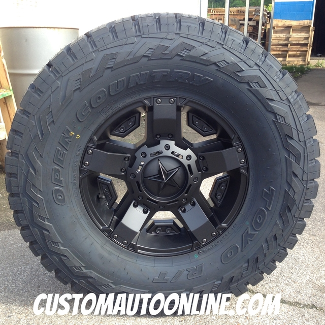 17x8 KMC XD Rockstar 2 XD811 Black - 35x12.50r17 Toyo Open Country RT