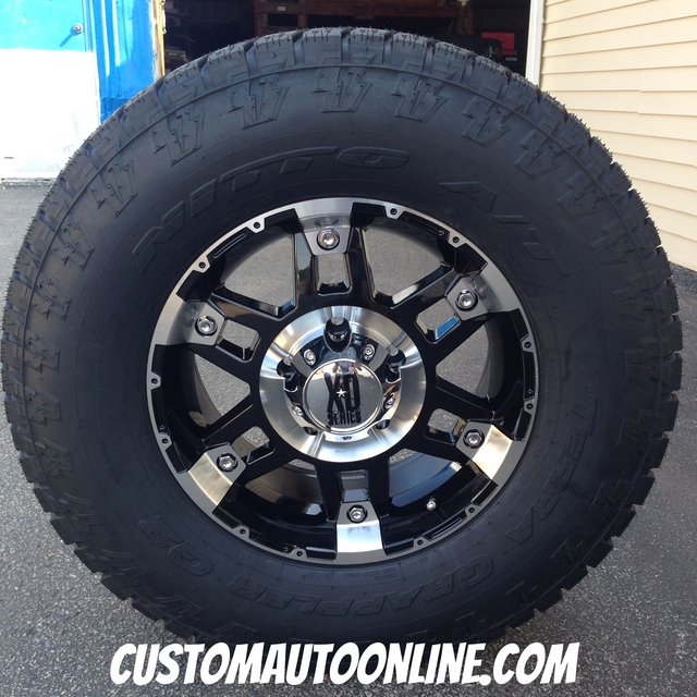 17x8 XD Spy 797 Black - 285/70r17 Nitto Terra Grappler G2