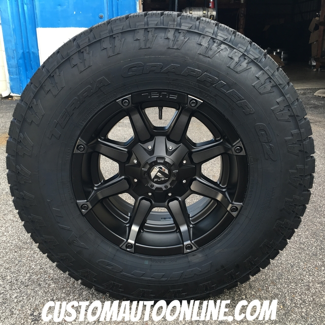 17x9 Fuel Coupler D556 Black with Dark Tint Machined - LT295/70r17 Nitto Terra Grappler G2