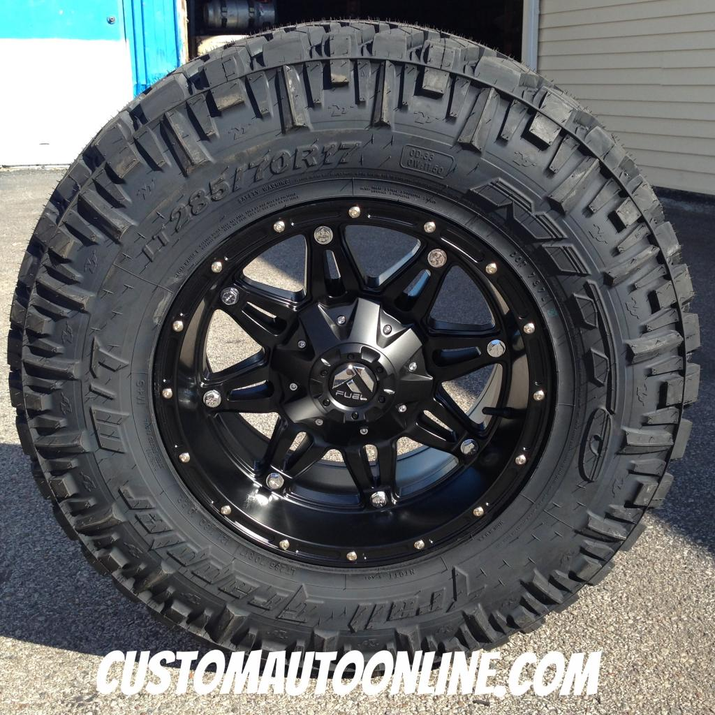 17x9 Fuel Offroad Hostage D531 Black - LT285/70r17 Nitto Trail Grappler
