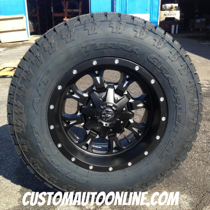 17x9 Fuel Krank D517 Black/Milled - LT265/70r17 Nitto Terra Grappler G2
