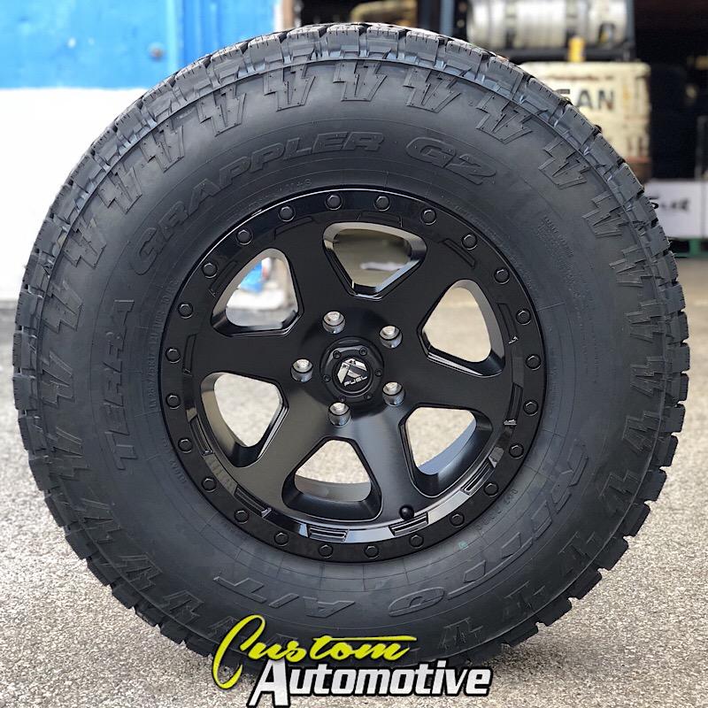 17x9 Fuel Ripper D589 Black - LT285/75r17 Nitto Terra Grappler G2