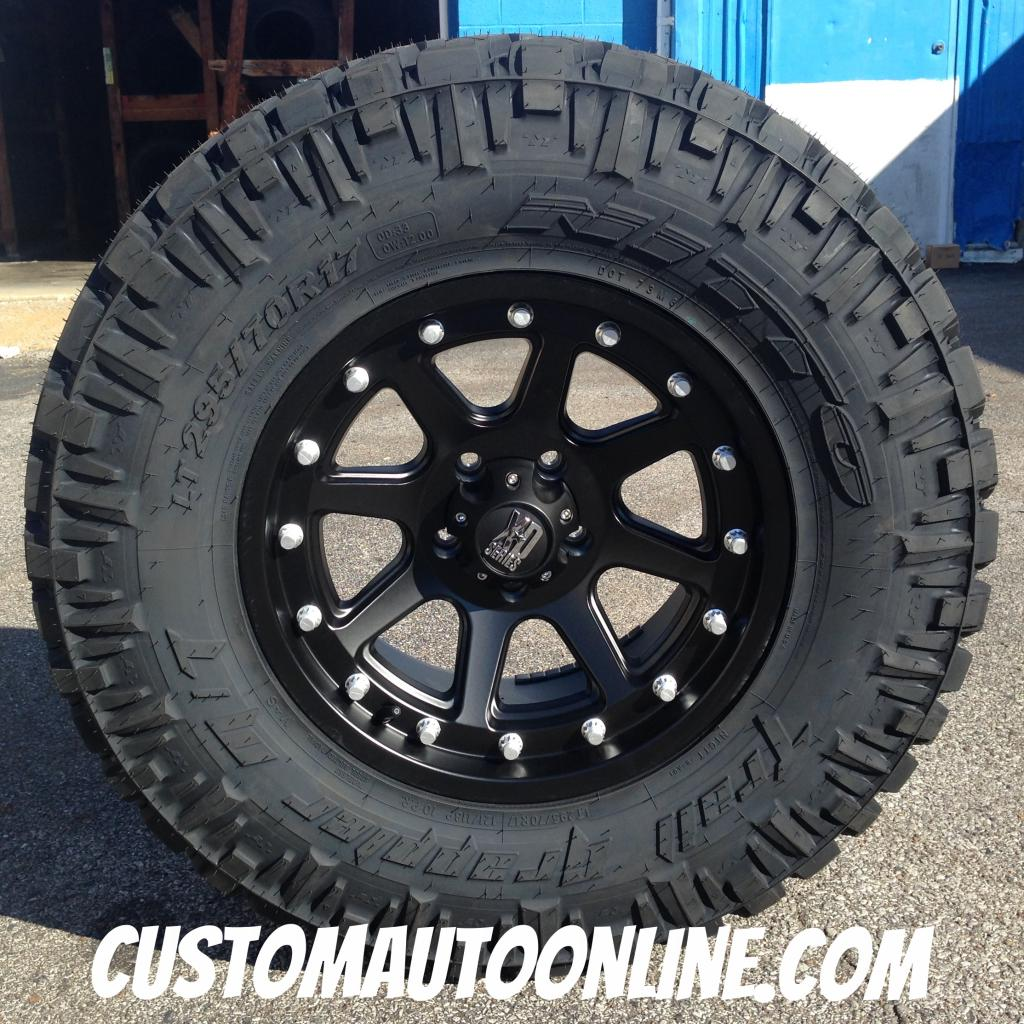 17x9 KMC XD Series Addict 798 Black - LT295/70r17 Nitto Trail Grappler