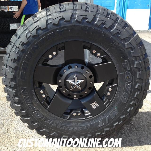17x9 XD Rockstar 775 Black - LT295/70r17 Toyo Open Country MT