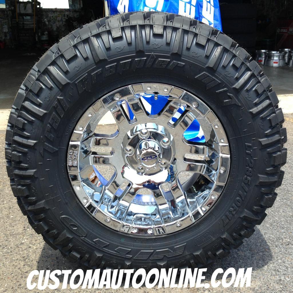 17x9 Moto Metal 951 Chrome - LT295/70r17 Nitto Trail Grappler