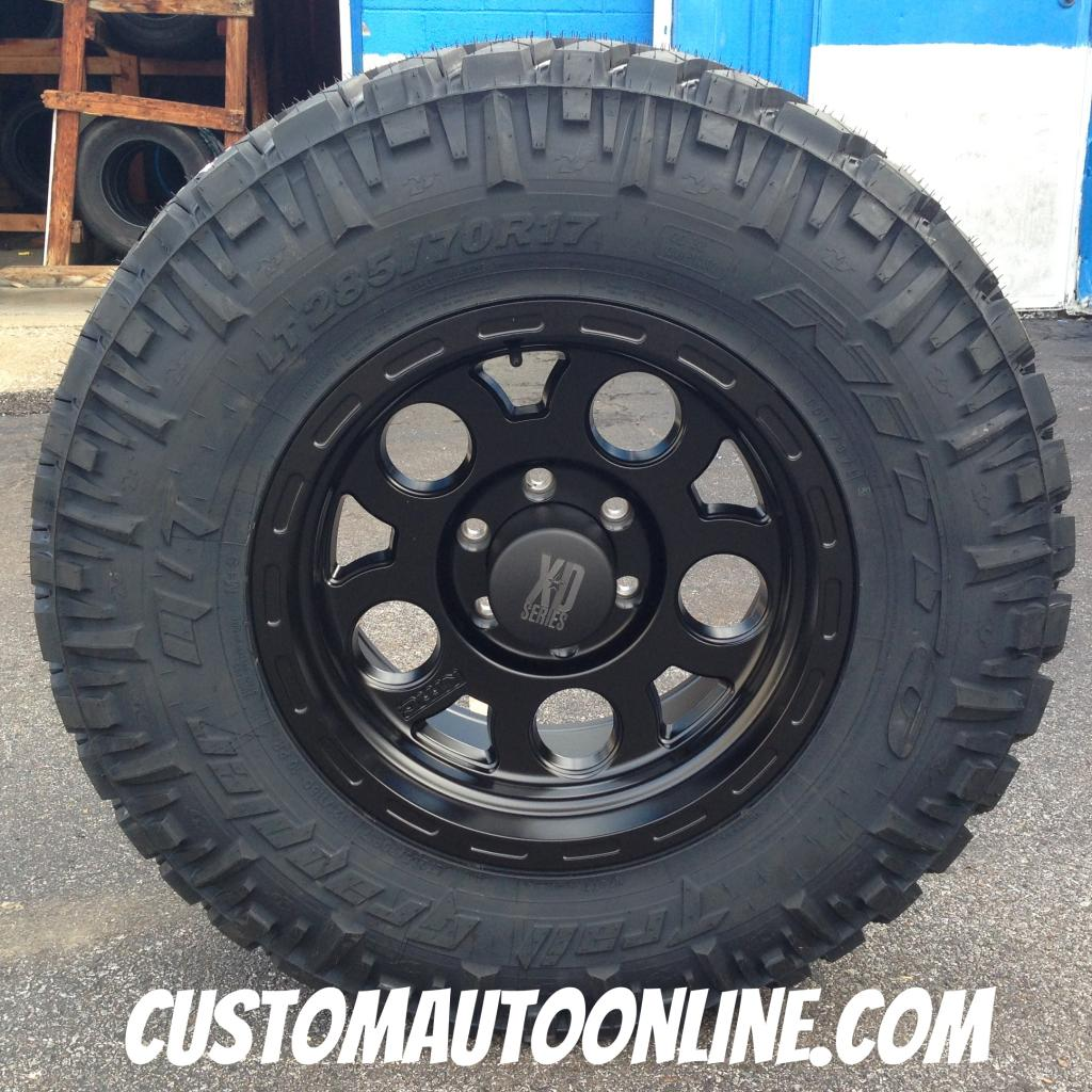 17x9 XD Enduro 122 Black - LT285/70r17 Nitto Trail Grappler