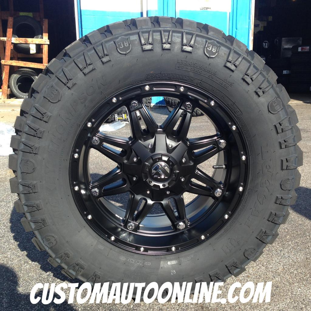 18x9 Fuel Offroad Hostage D531 Black - LT305/60r18 Mickey Thompson Deegan 38