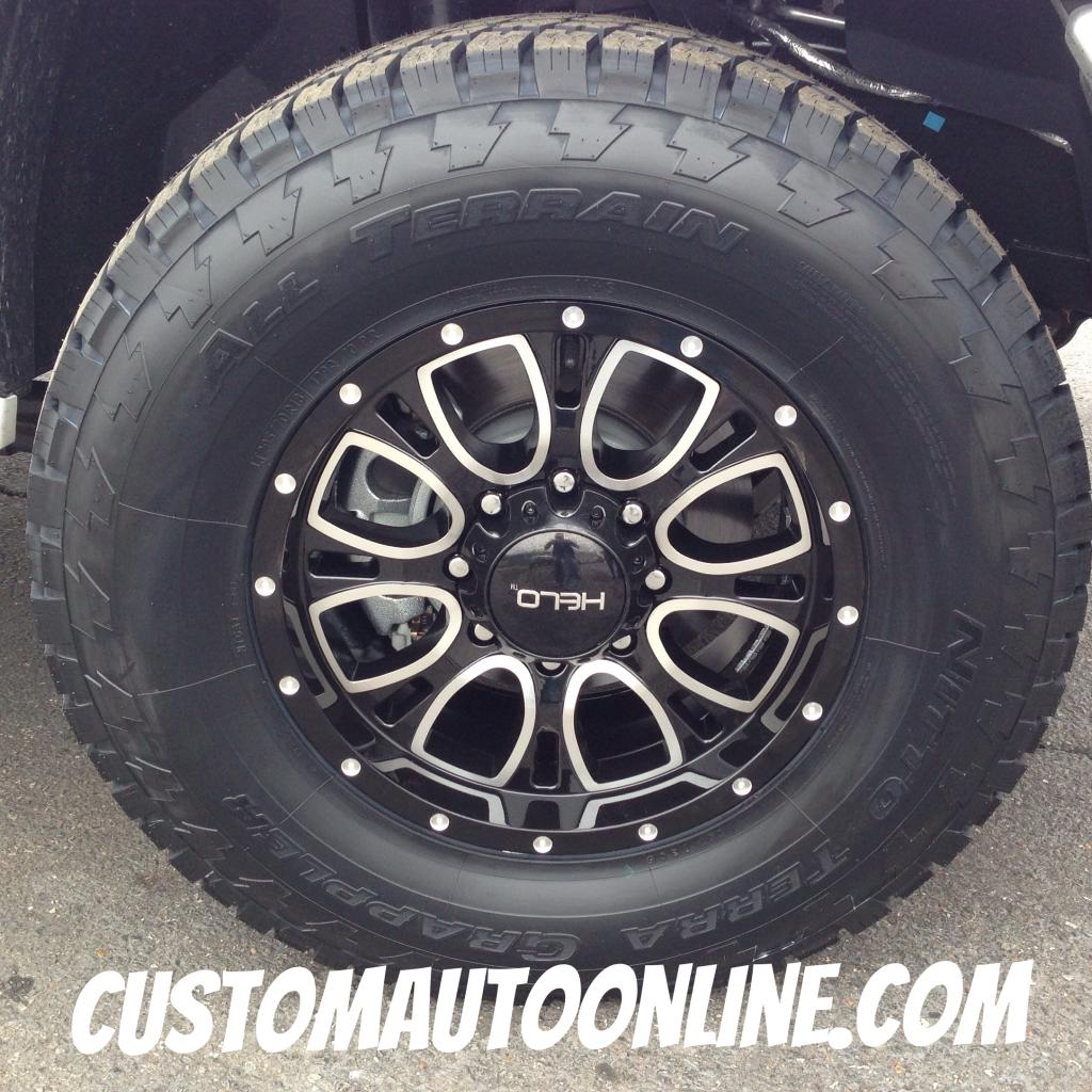 18x9 Helo HE879 Black - LT295/70r18 Nitto Terra Grappler