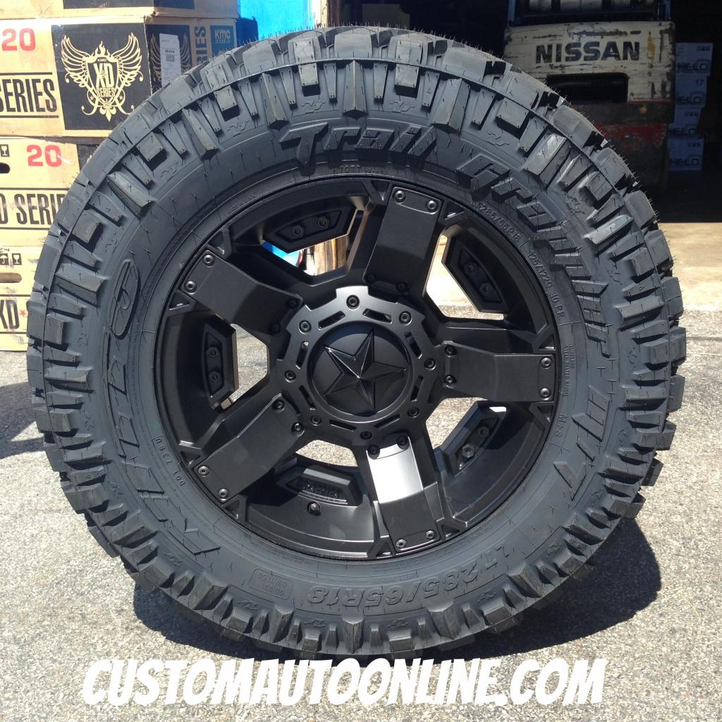 18x9 KMC XD Rockstar II RS2 811 Black - LT285/65r18 Nitto Trail Grappler