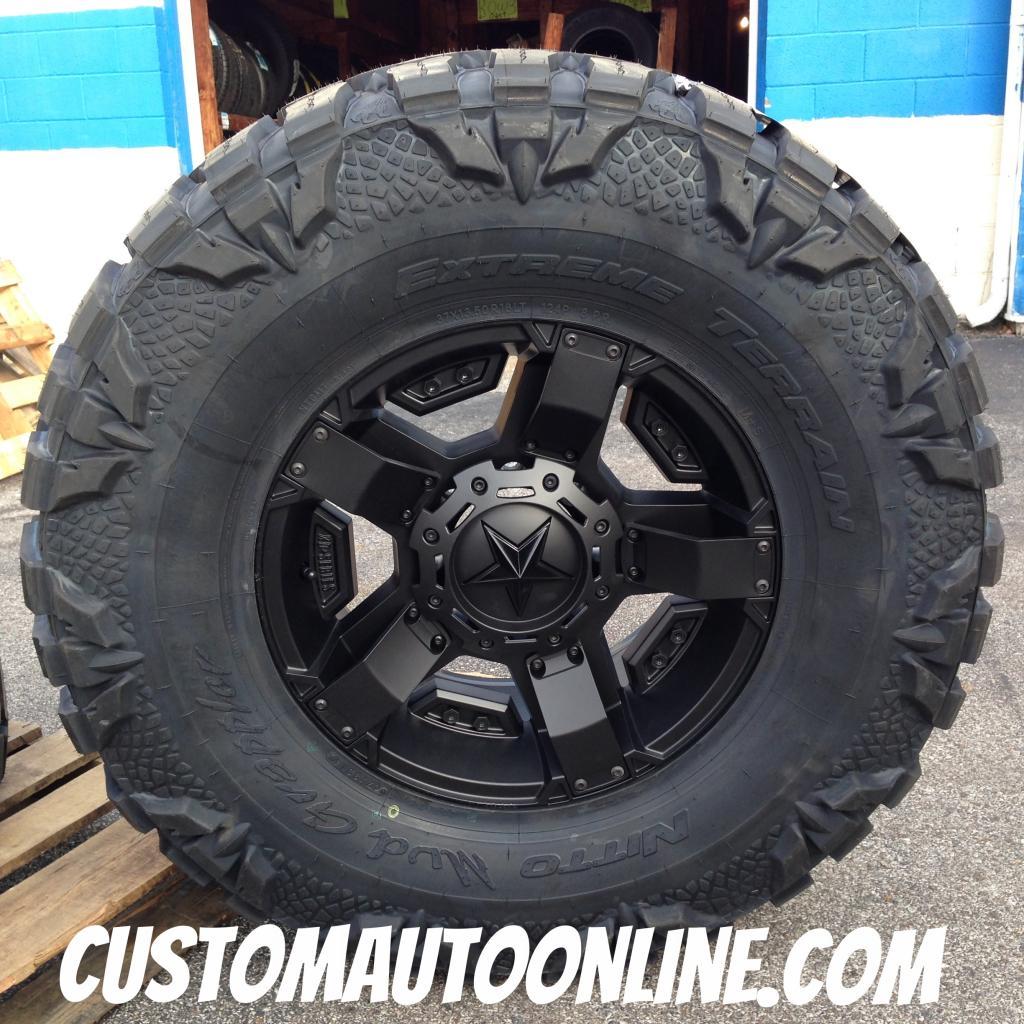 18x9 XD Rockstar II RS2 811 Black - 37x13.50r18 Nitto Mud Grappler