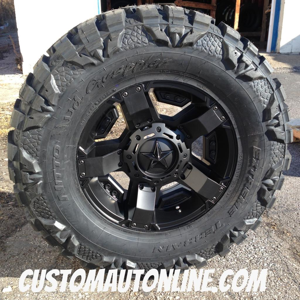 18x9 XD Rockstar II RS2 811 Black - 35x12.50r18 Nitto Mud Grappler
