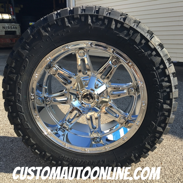 20x10 Fuel Offroad Hostage D530 Chrome - LT295/55r20 Nitto Trail Grappler