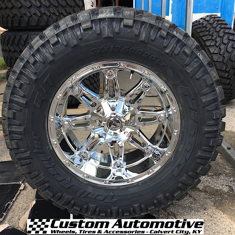 20x10 Fuel Hostage D530 Chrome - 37x13.50r20 Nitto Trail Grappler