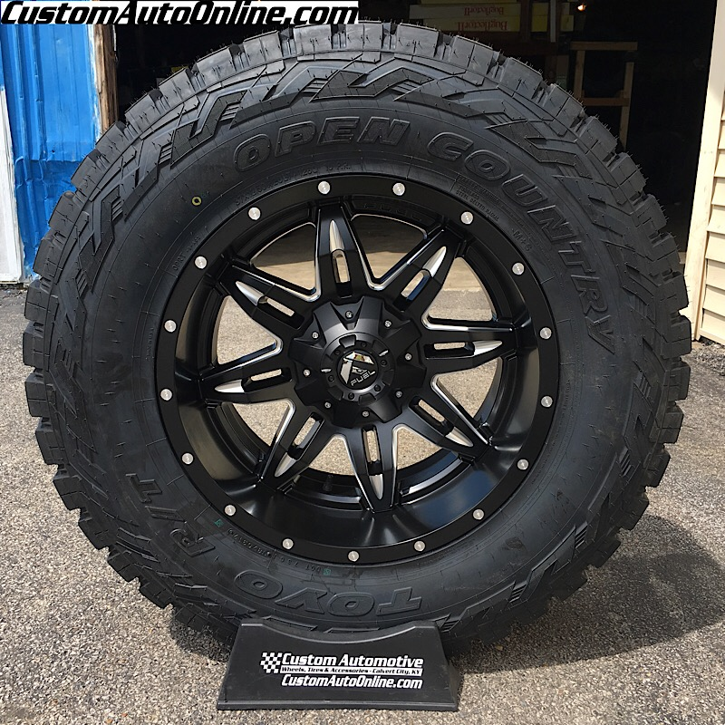 20x10 Fuel Lethal D567 Black - 37x12.50r20 Toyo Open Country RT