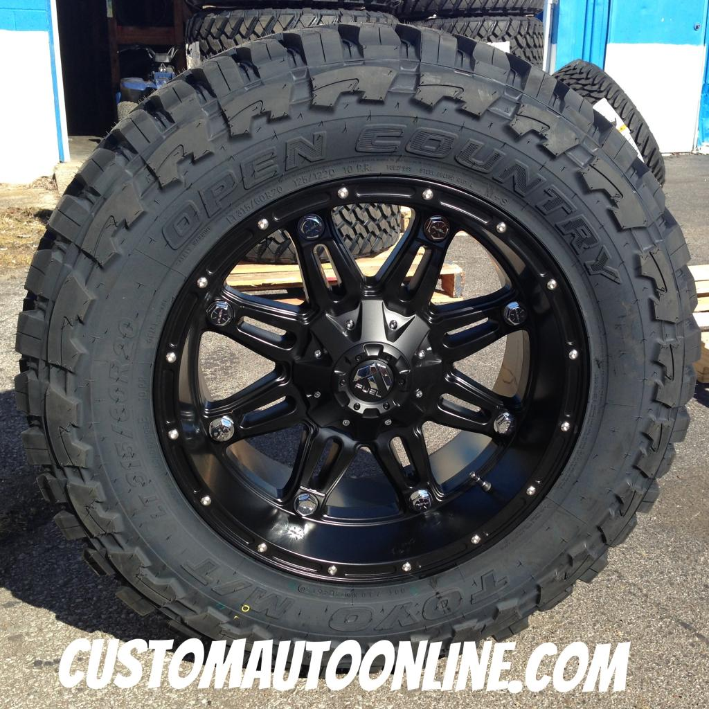 20x10 Fuel Hostage D531 Black - 35x12.50r20 Toyo Open Country MT
