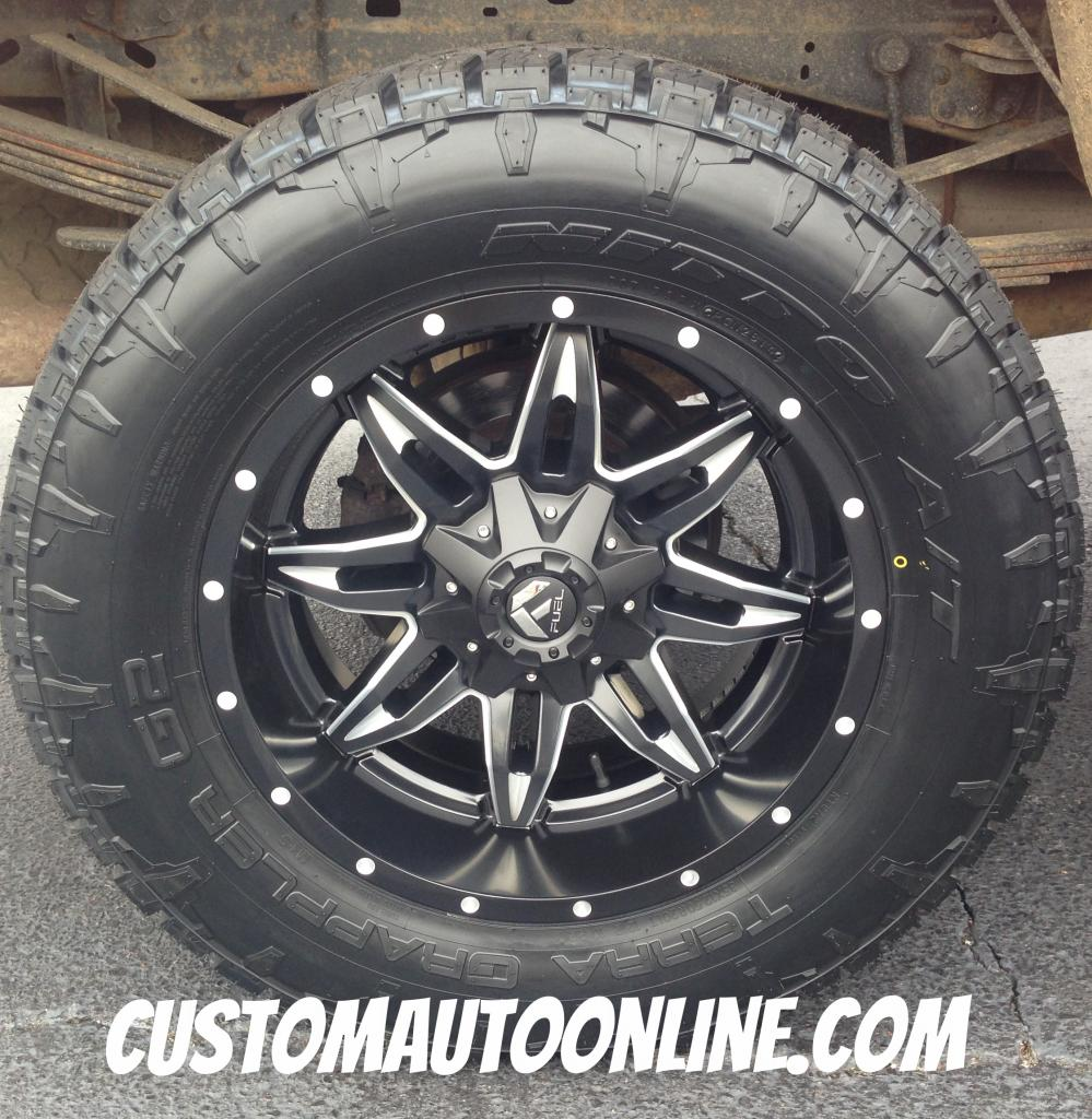 20x10 Fuel Lethal D567 Black/Milled - 35x12.50r20 Nitto Terra Grappler G2