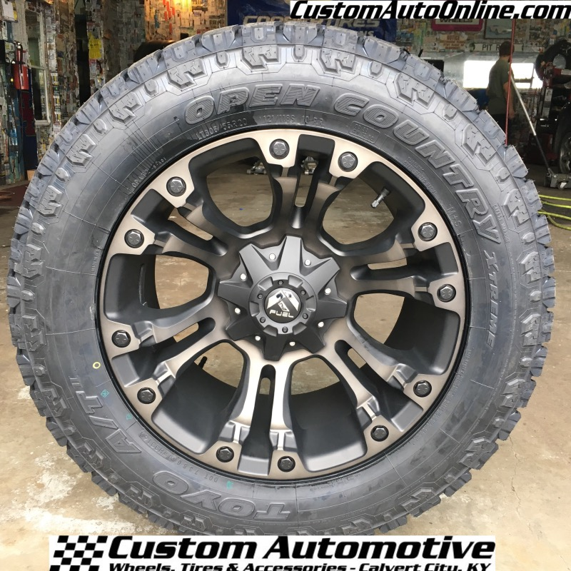 X Fuel Vapor D Black Dark Tint Machined Toyo Open Country At
