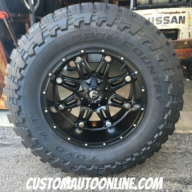 20x12 Fuel Hostage D531 Black - 38x15.50r20 Toyo Open Country M/T