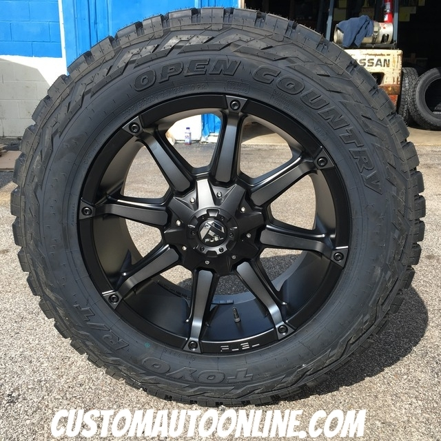 20x9 Fuel Offroad Coupler D556 Black and Dark Tint Machined - LT275/65r20 Toyo Open Country R/T