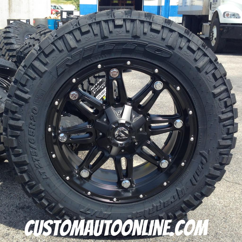 20x9 Fuel Offroad Hostage D531 Black - LT275/65r20 Nitto Trail Grappler