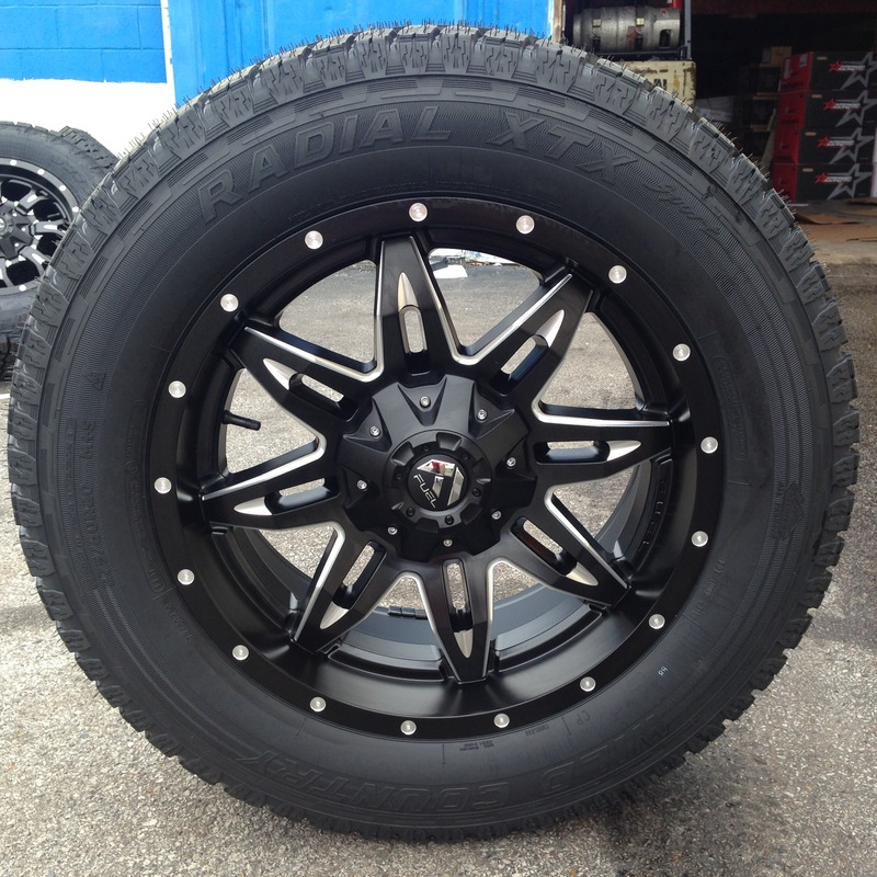 20x9 Fuel Lethal D567 Black - 275/60r20 Wild Country XTX All Terrain